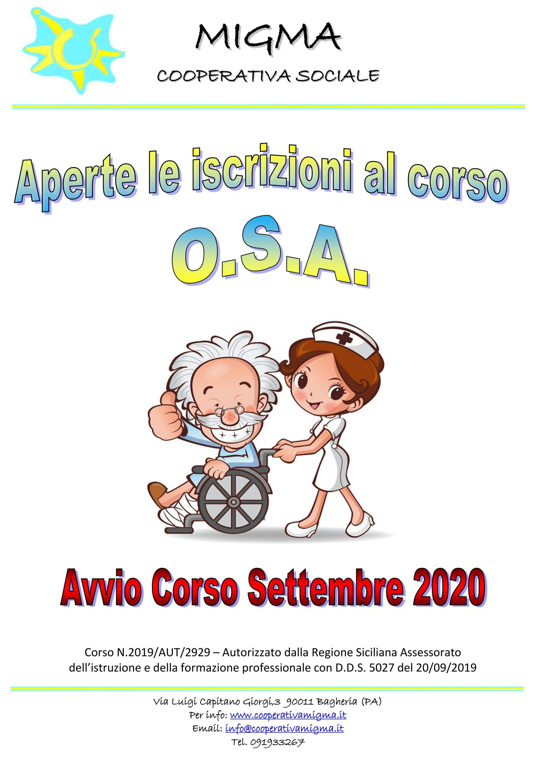O.S.A. – Operatore Socio Assistenziale